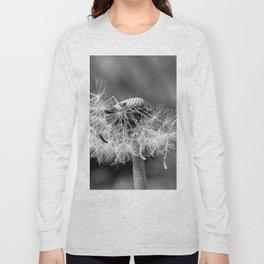 Bokehlicious black & white dandelion Long Sleeve T-shirt
