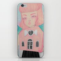 loll3 iPhone & iPod Skins featuring Dollhouse by lOll3