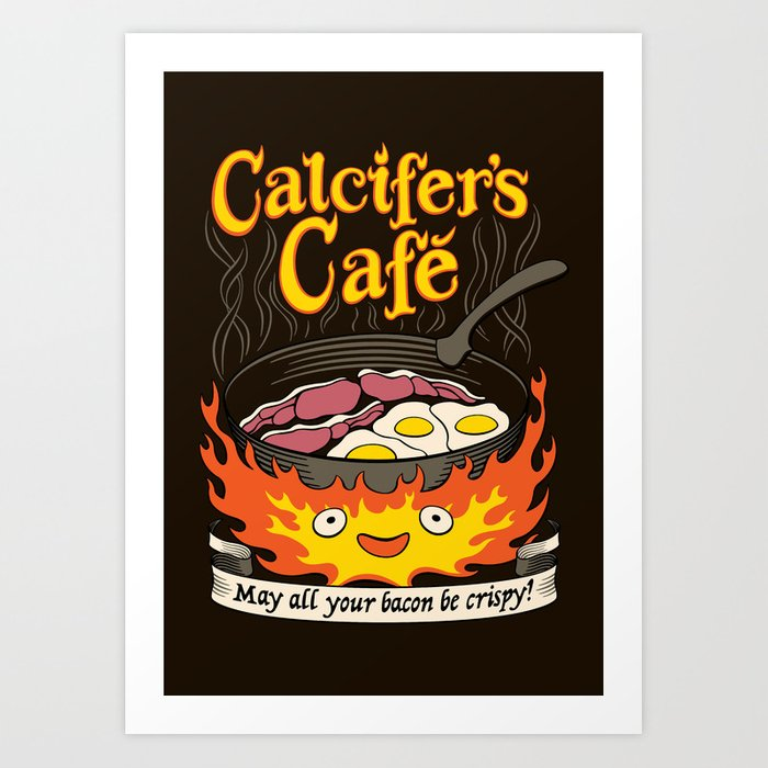 Calcifer's Cafe Art Print