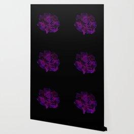 Ultra Violet Velvet Rose loves Black Wallpaper