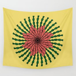 coral flower Wall Tapestry