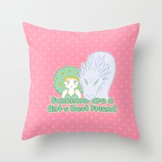 Summons are a Girl's Best Friend Throw Pillow