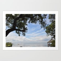 OuterBanks Vacation Blue Sky Landscape Scene Art Print