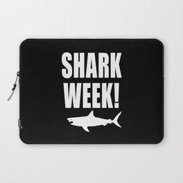 Shark Week, white text on black Laptop Sleeve