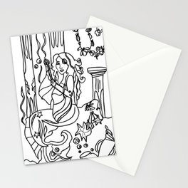 Jazette´s Pearls Black and White Drawing  Stationery Cards