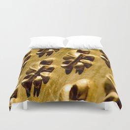 Parisian Gold Fluer De Lis Embossed Design Duvet Cover