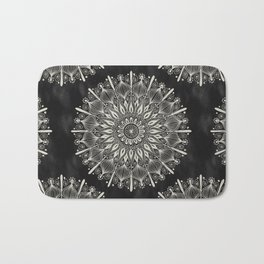 Vintage Mandala on black Bath Mat