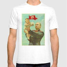 Trump Putin White Mens Fitted Tee LARGE