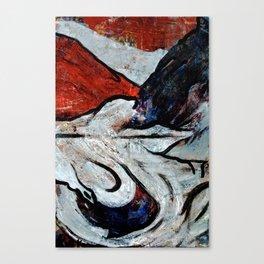acrylic abstract on 63x94 cm canvas Canvas Print