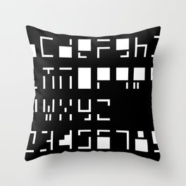 Alphanumerique Throw Pillow