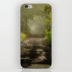 Misty Woodland Lane II iPhone & iPod Skin