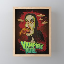 Vampire Hurl Framed Mini Art Print