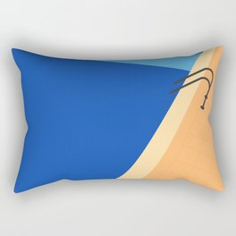 Swimming Pool with Blue Water Rectangular Pillow