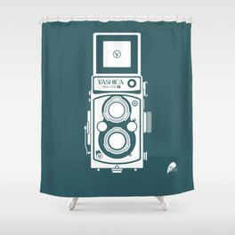 Yashica MAT 124G Camera Shower Curtain
