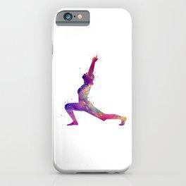 Yoga Art Warrior Pose Art Virabhadra Pose Meditation Art Fitness Art Yogi Gift iPhone Case