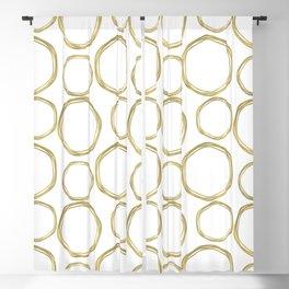 White & Gold Circles Blackout Curtain