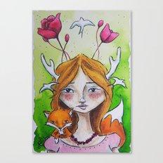 The Fox Tale Canvas Print