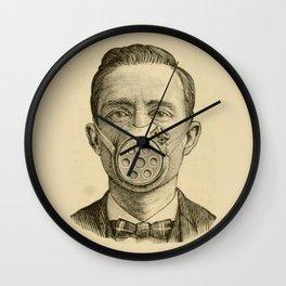 Masked man. Wall Clock