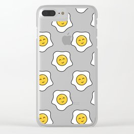 Happy Eggy Clear iPhone Case