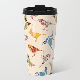 Vintage Wallpaper Birds Travel Mug