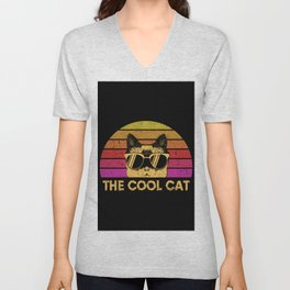 The Cool Cat Unisex V-Neck
