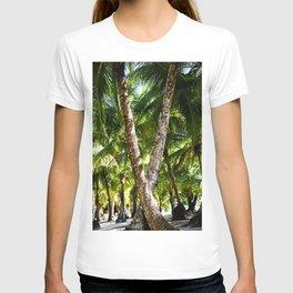 Tropical Paradise Beach Escape Island - Panama travel & palms landscape - Fine Art Print colorful 3 T-shirt