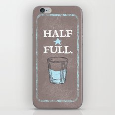 Half Full iPhone & iPod Skin