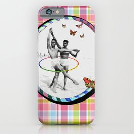 Ballet Hooping on The Beach with Butterflies iPhone Case