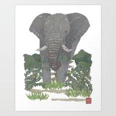 Elephant, African Animal, Savanna, Safari, Wild Life Art Print