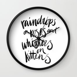 My Favourite Things - Raindrops Wall Clock