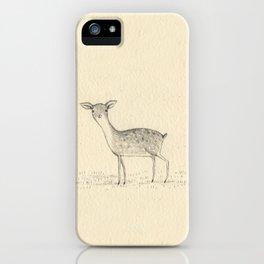 Monochrome Deer iPhone Case