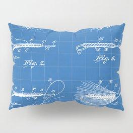 Fly Fishing Patent - Fisherman Art - Blueprint Kissenbezug