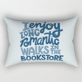 Long Romantic Walks Bookstore BLUE Rectangular Pillow
