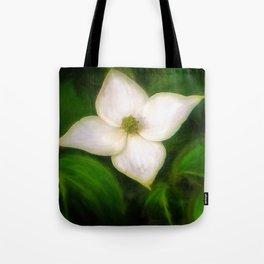 Single Dogwood Flower Natural Tote Bag