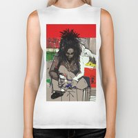 basquiat Biker Tanks featuring Basquiat by Helen Syron