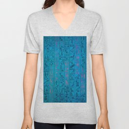 Ancient egyptian blu Unisex V-Neck