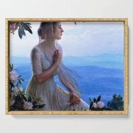 Charles Courtney Curran - The Mountain Side Seat - Digital Remastered Edition Serving Tray