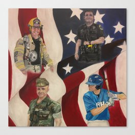 America's Men Canvas Print