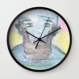 Spiritual Chalks Drawing of 16th USA President Abraham Lincoln Wall Clock
