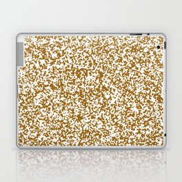 Tiny Spots - White and Golden Brown Laptop & iPad Skin