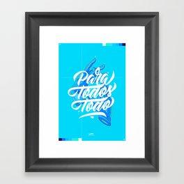 Para Todos Todo - Flume Framed Art Print