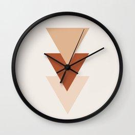 Southwestern Geometric Minimalism in Earth Tones Wall Clock