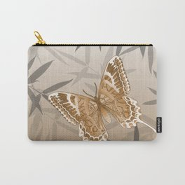 Beautiful Copper Butterfly Design Carry-All Pouch