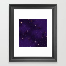 Halloween Galaxy Framed Art Print