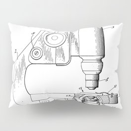 Microscope Patent - Scientist Art - Black And White Pillow Sham