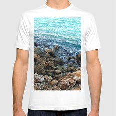 Layers in nature MEDIUM White Mens Fitted Tee