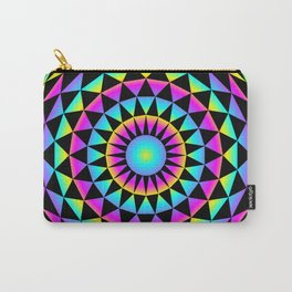 20gon Rainbow Gradient Triangles Carry-All Pouch