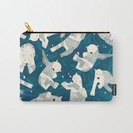 arctic polar bears blue Carry-All Pouch