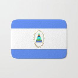 flag of nicaragua - Nicaraguans,Nicaragüense,Managua,Matagalpa,latine. Bath Mat