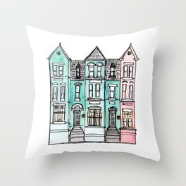 DC Row House No. 2 II U Street Throw Pillow